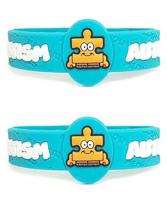 Light Blue Autism Bracelet - Set of Two