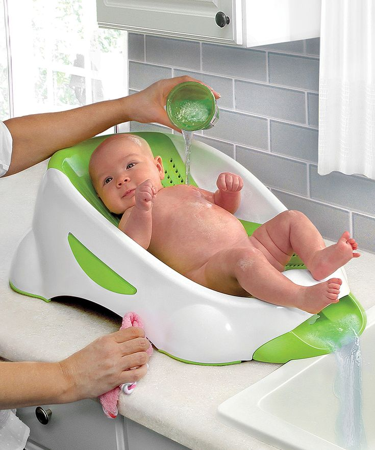 Green Munchkin Clean™ Cradle Tub; might be a better way to go with baby no#2