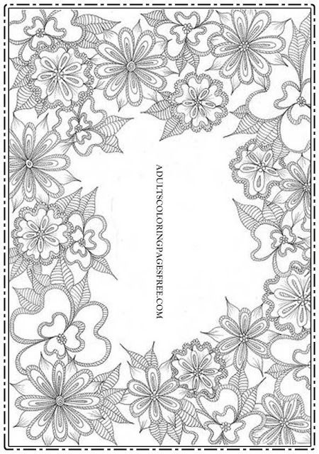 1000  images about flowers coloring pages for adults on pinterest