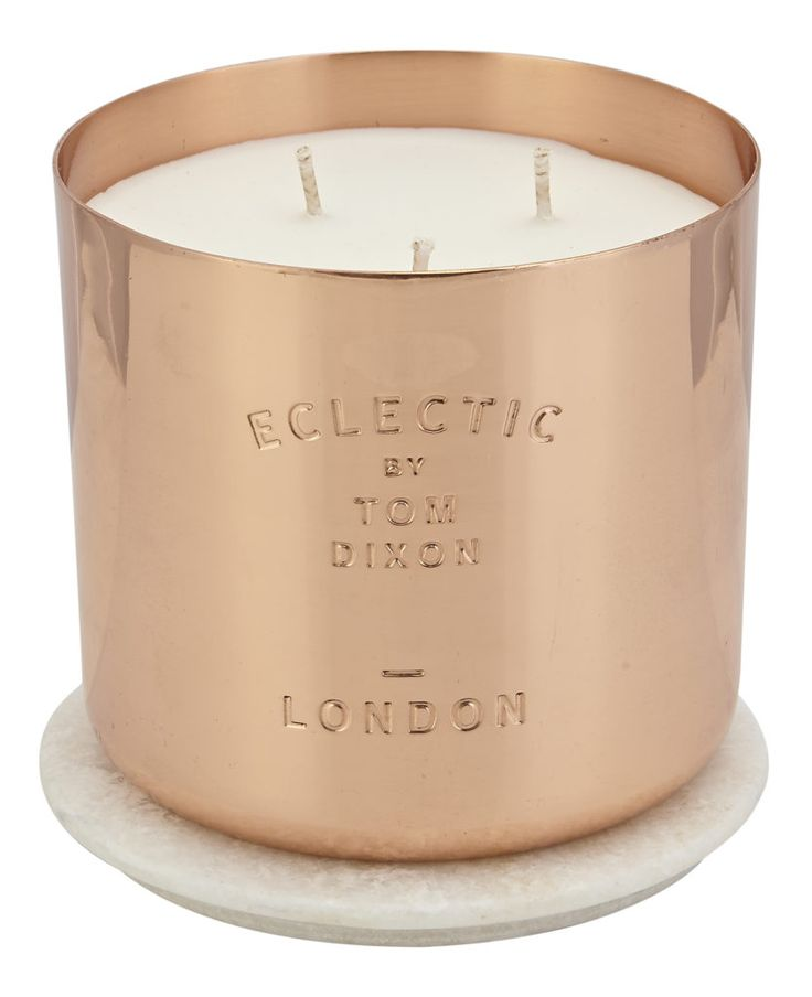 Instead of a glass container, The Eclectic Family series, also by Tom Dixon, uses solid metal copper and nickel vessels as a material and come in three striking scents. We love London, which is designed to capture the smell of red brick and London parks with crocuses and nettles, and the salty smell of the Thames at Dagenham. The scents also come as diffusers.