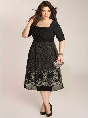 Hayleigh Plus Size Dress in Black - Intro to Fall by IGIGI | $118.00