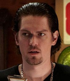 Steve Howey. He'd be a good pick for Damon Cretien, Aaron's real father.