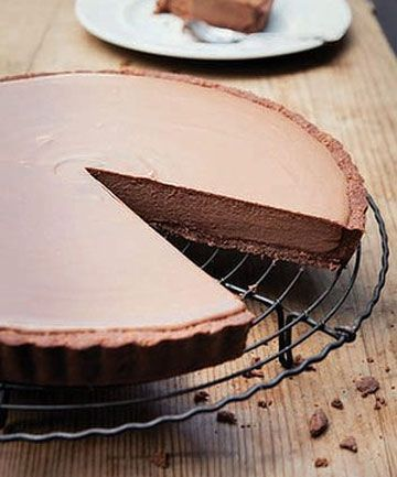 Tim Tam Chocolate Tart: easy to make and just wonderful to eat - for all Tim Tam and hot chocolate with marshmallow fans.