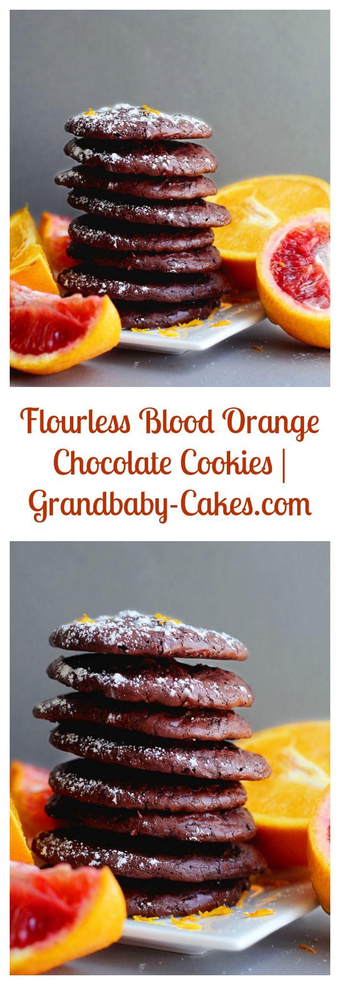 Flourless Blood Orange Chocolate Cookies   Grandbaby-Cakes.com
