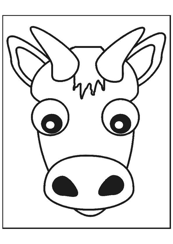 Dessin colorier d une t te de vache coloriages animaux - Dessin tete de mouton ...