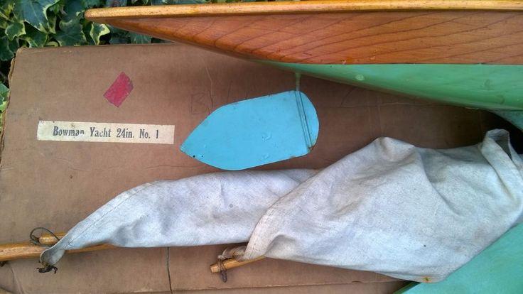 Bowman Hobbies Norfolk 24 inch racing pond yacht boat rare original box