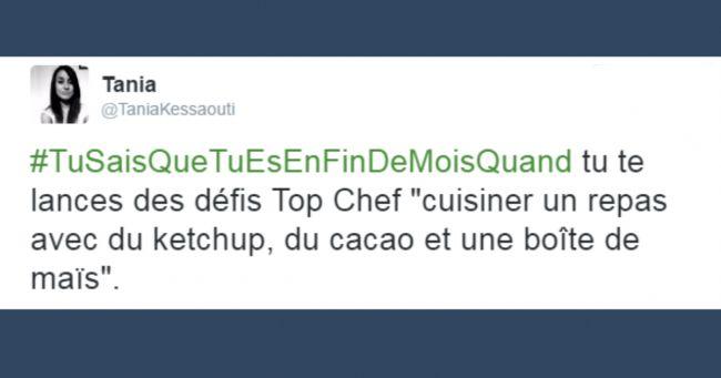 Top 13 des meilleurs tweets #TuSaisQueTuEsEnFinDeMoisQuand pour ceux qui mangent des pâtes depuis 10 jours