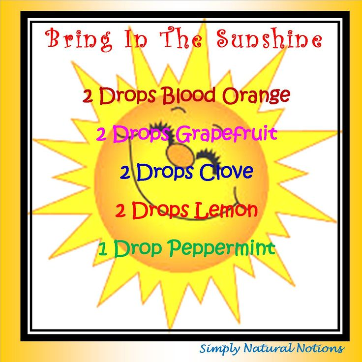 Bring In The Sunshine Diffuser Blend from Simply Natural Notions!