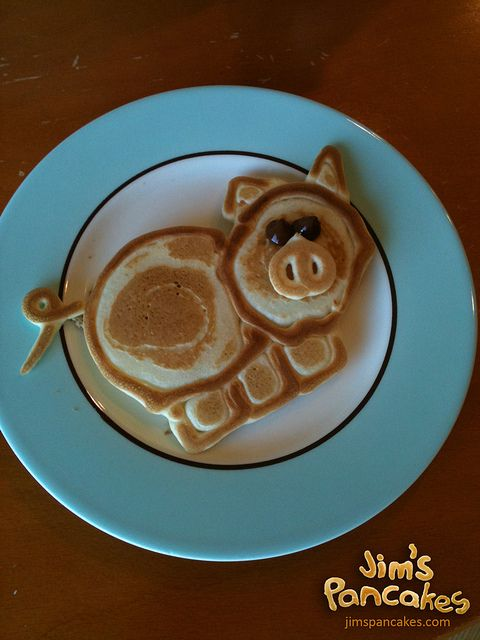 This guy makes the coolest pancakes.  I would love to try and make stuff like this!