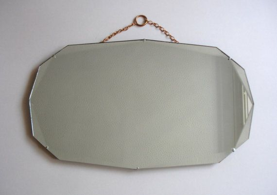 Mirror, Mirror, On the Wall  1930s Art Deco Hanging Mirror Vintage Home Decor by FillyGumbo, $70.00