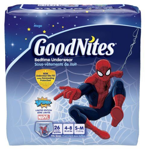 Goodnites Boys Underwear Small/Medium, Boy, 26 Count (Pack of 3), Packaging May Vary | Multi City Health  List Price: $55.06 Discount: $15.06 Sale Price: $40.00