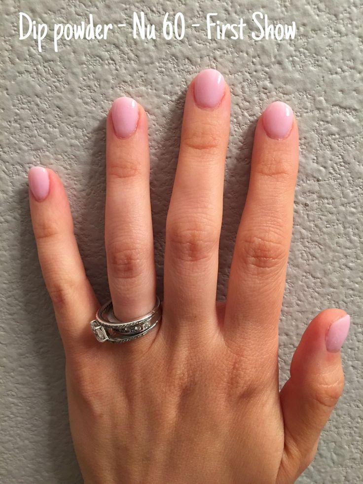 Dip powder manicure nu60 first show shortgelnails