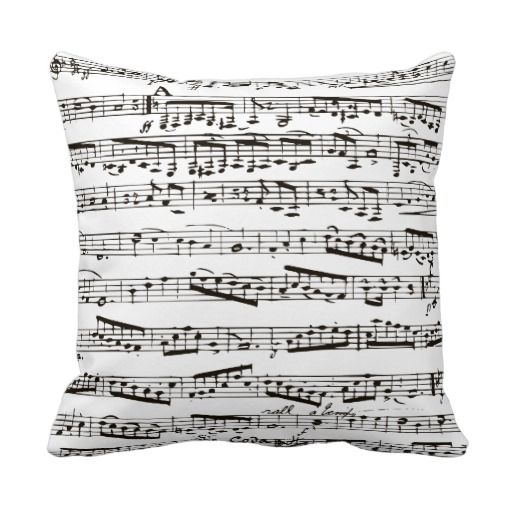 Black and white musical notes throw pillowInspirationz Store....bailey's room