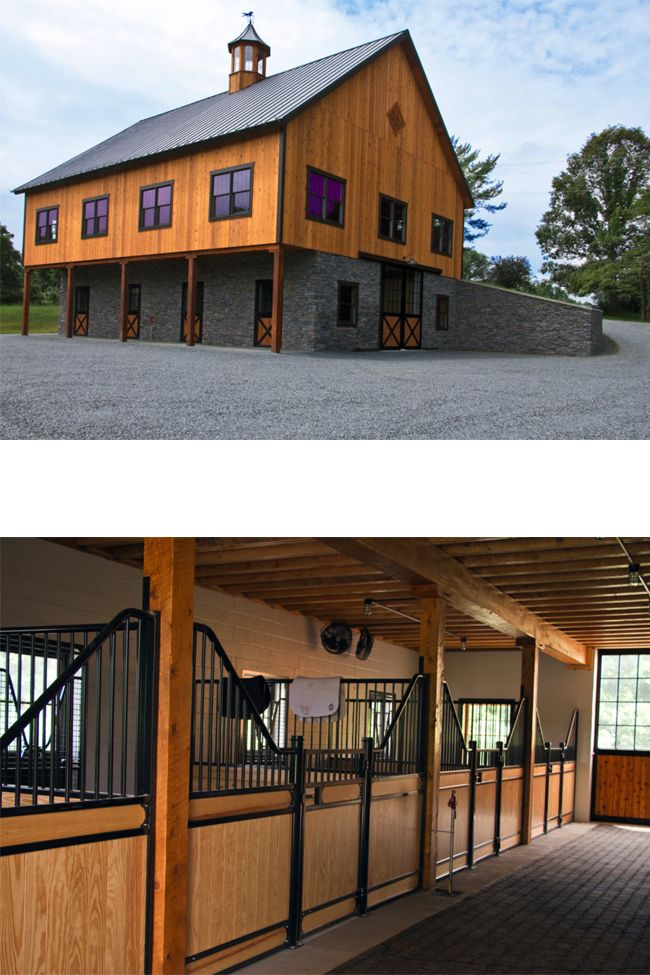 1000 ideas about horse barn designs on pinterest horse for Bank barn plans