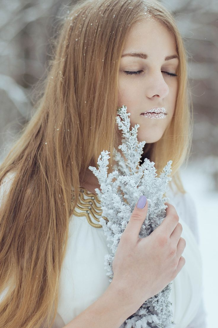 winter portrait by olya zanina