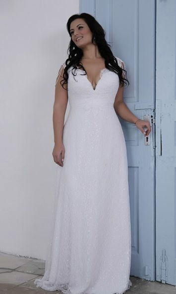 Style PS1430 - Beaded Sequin Plus Size Wedding Dress