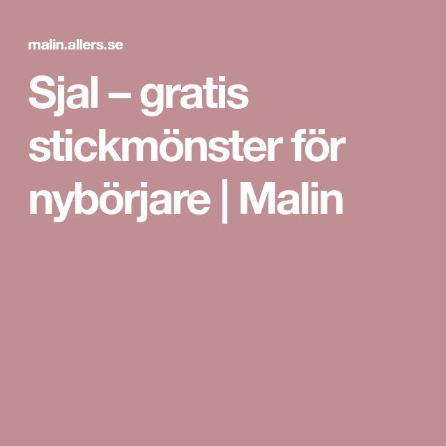 Sjal – gratis stickmönster för nybörjare | Malin