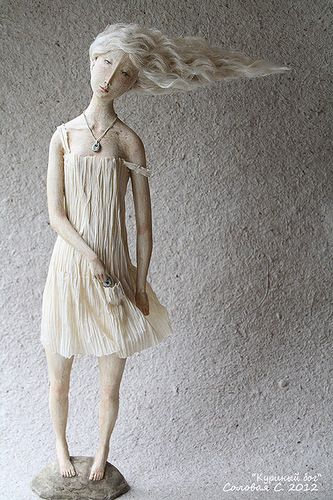 Paperclay, смешанная техника 45 см, ед.экз., 2012г http://solovaya-s.livejournal.com/