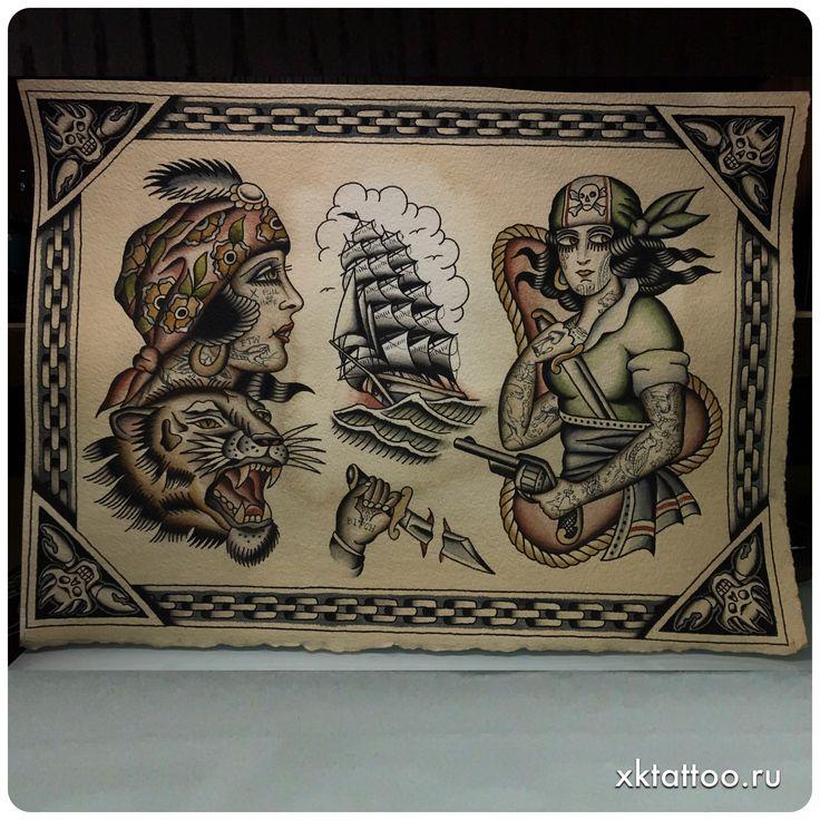 Color Tattoo By Matt From Black Sails Tattoo: 355 Best Traditional Tattoo, Old School Tattoo, Classic