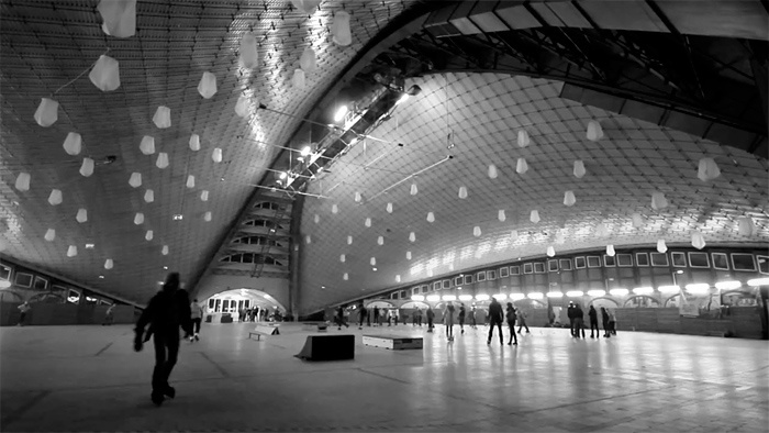 "Hala #Kapelusz w Chorzowie ""The Hat"" exhibition #hall in #Chorzow, #Poland. 1968"
