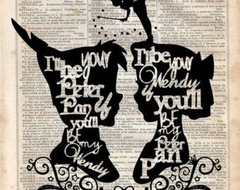 Wendy and Peter Pan Silhouette Dictionary by MySilhouetteShoppe