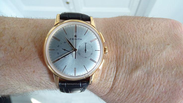 Zenith Elite Chronograph Classic oro rosa en la muñeca