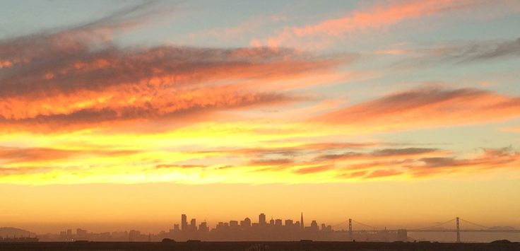San Francisco skyline from Alameda, California