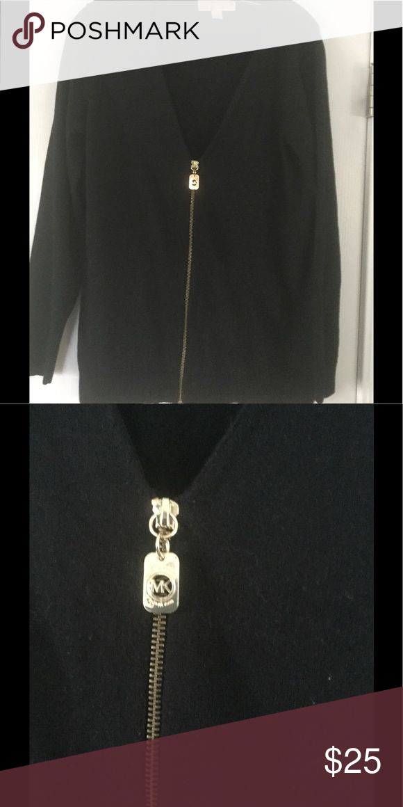 Michael KORS women's Knit zip up sweater! Awesome knit zip up sweater with MK gold zipper looks great on! Barely worn excellent condition! KORS Michael Kors Sweaters Cardigans