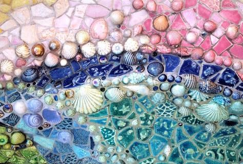 sparkly seashells