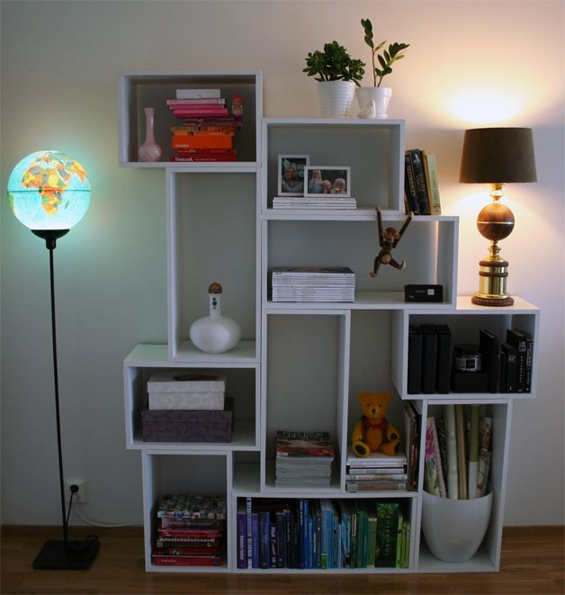 diy bookshelves idea | DIY Modern And Practical Shelf System » Photo 7