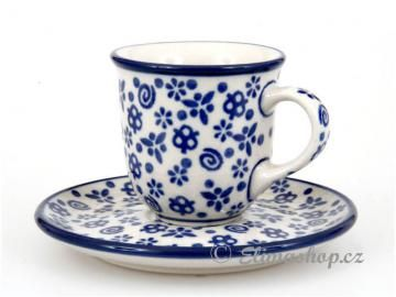 šálek mocca s podšálkem 0,06 l - ELIMAshop.cz This little cute mocca cup is really beautiful. And the pattern is one of most favorite. Handmade Polish Pottery from shop ELIMA