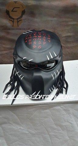 PREDATOR HELMET STREET FIGHTER DOT APPROVED | fanie2306_Helmets - on ArtFire