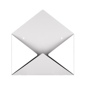 Envelope Mailbox White, 52€, now featured on Fab.