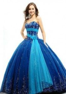 Vestidos de Fiesta de 15 Años de color Azul 2