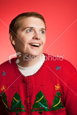 Weird Christmas Sweater Man
