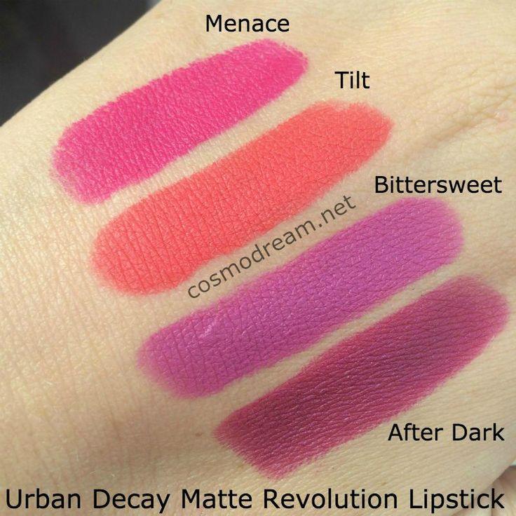 Новые матовые помады Urban Decay Matte Revolution Lipstick свотчи | cosmodream