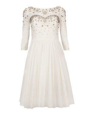 Crystal embellished evening dress