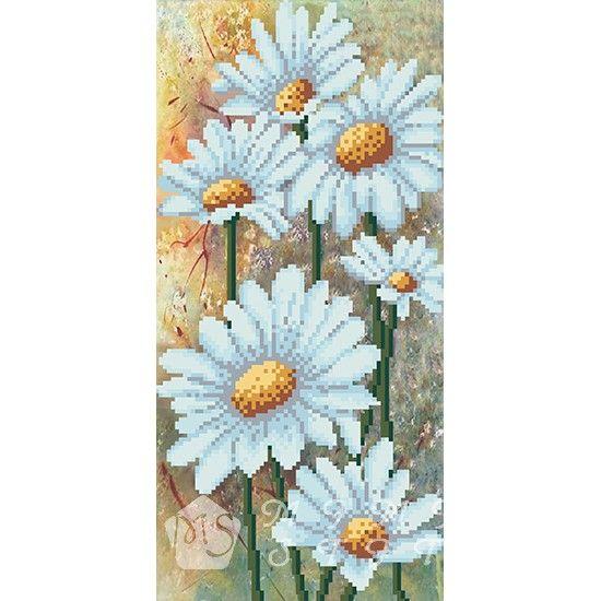 Канва с рисунком для бисера Ромашки Т-0463 #beads #beadwork #embroidery #mimistitch