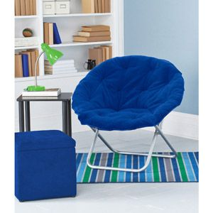 Awesome Mainstays Faux Fur Saucer Chair, Multiple Colors Great For Reading Time,  Easy To