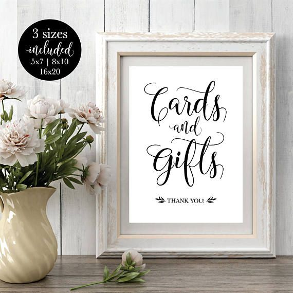 Printable Wedding Cards and Gifts Sign, Rustic #weddings #decoration @EtsyMktgTool http://etsy.me/2f0kqKT