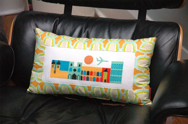 Making cross stitch into a cushion, I used this method as part of my friend's birthday present.