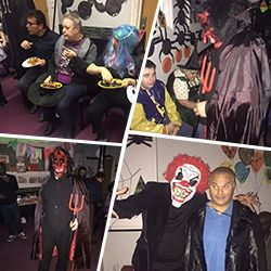 #autismsupportgroup frontier support celebrated Halloween at the their hub. The Party brought together people with special needs.