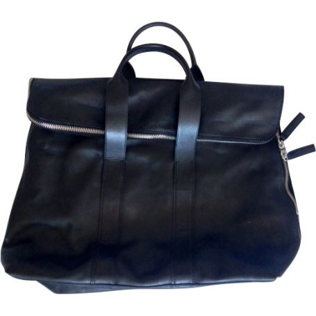 Zipped leather bag 3.1 PHILLIP LIM Black 31 Hour Mensbag @Vestiaire Collective