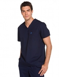 Ecko Riverside Top- designer scrub top, amazing comfort and fit, chest and side pockets, designed to be worn tucked in or out.60% cotton/40% polyester supersoft poplin, easycare. Colours available: Black, Ceil, Navy, Granite, Pacific. In sizes S-XXXL. * FIND US on www.happythreads.co.uk  * #dental #uniforms #nurse #tunics #scrubs #top #male #mens #healthcare #ecko #riverside #happythreads