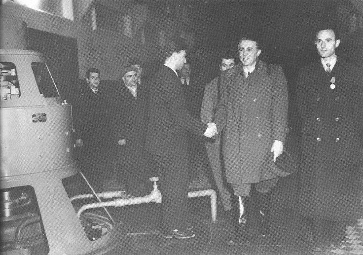 "Enver Hoxha ne inagurimin e hodrocentralin ""Karl Marks"" janar 1958."