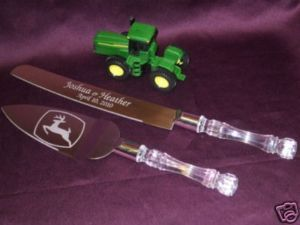 John Deer Wedding | John Deere Farmer Tractor Mowing Wedding Cake Set | eBay