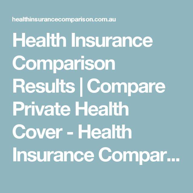 Health Insurance Comparison Results | Compare Private Health Cover - Health Insurance Comparison