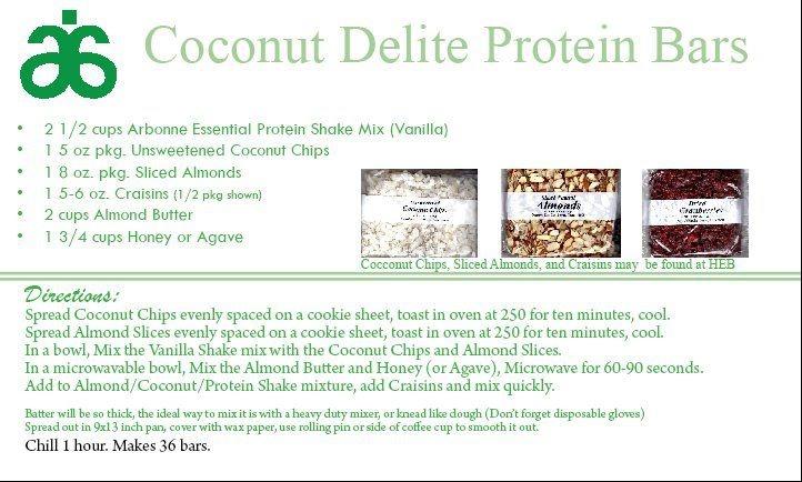 Coconut Delite Protein Bars https://www.facebook.com/rachaelstirlingarbonneindependentconsultant/