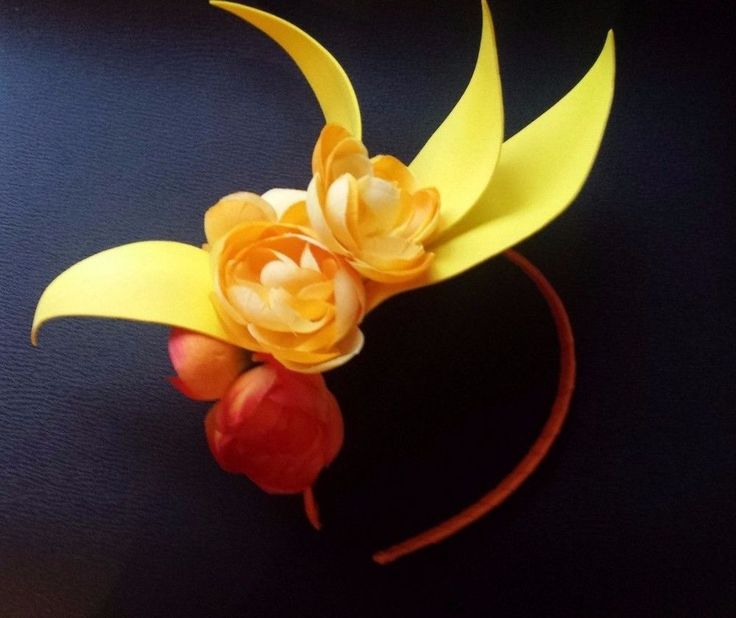 Orange & Yellow Fascinator