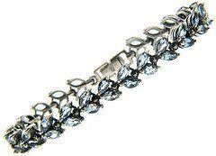 Sterling Silver Marcasite Genuine Blue Topaz Leaf Bracelet LEAH HANNA. $59.99. Save 33% Off!